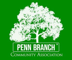 Penn Branch Logo 2020 FINAL REVERSE GREEN WHITE 200PXpng