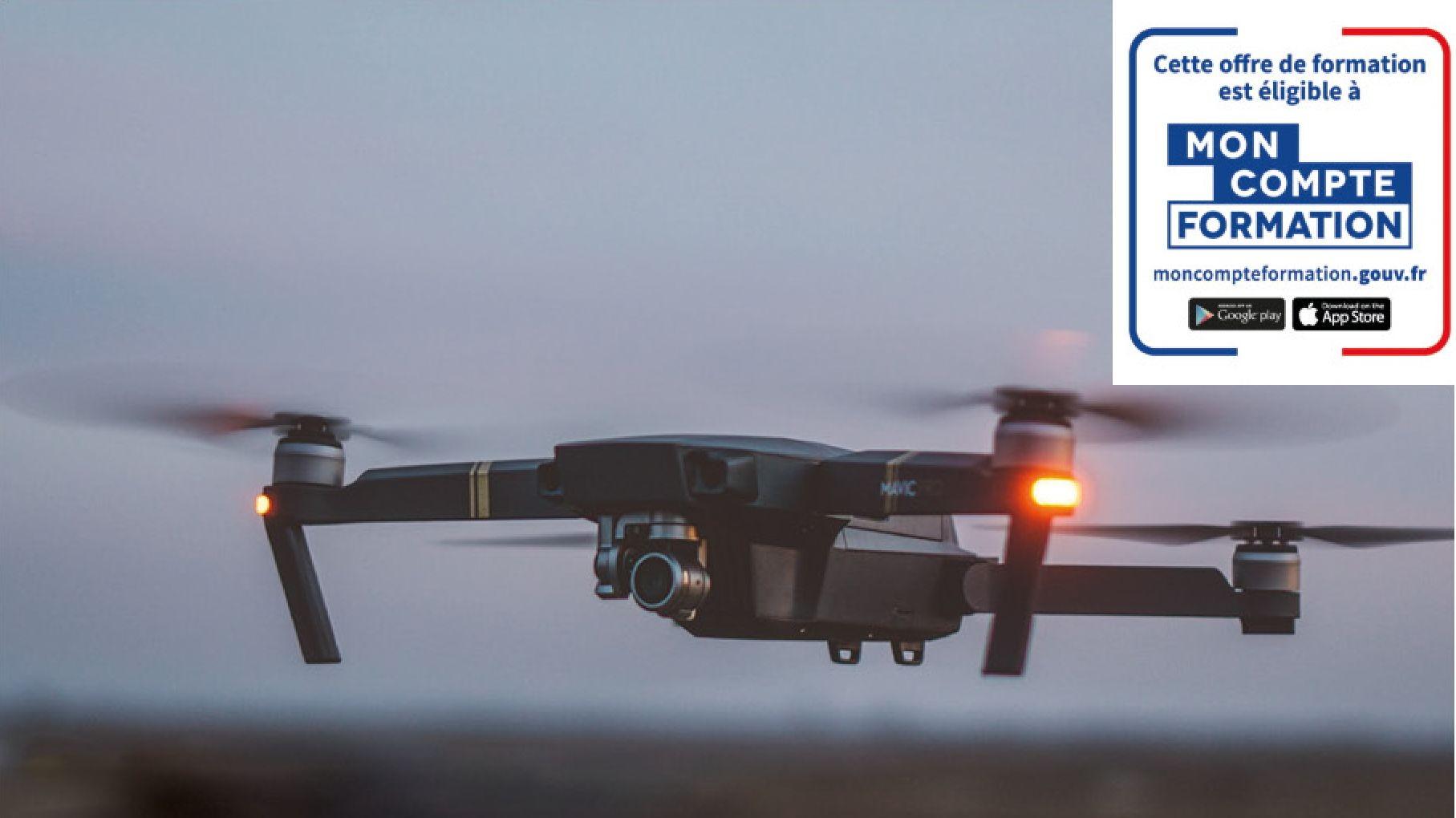 Représentation de la formation : Certification Télépilotage Drone Professionnel