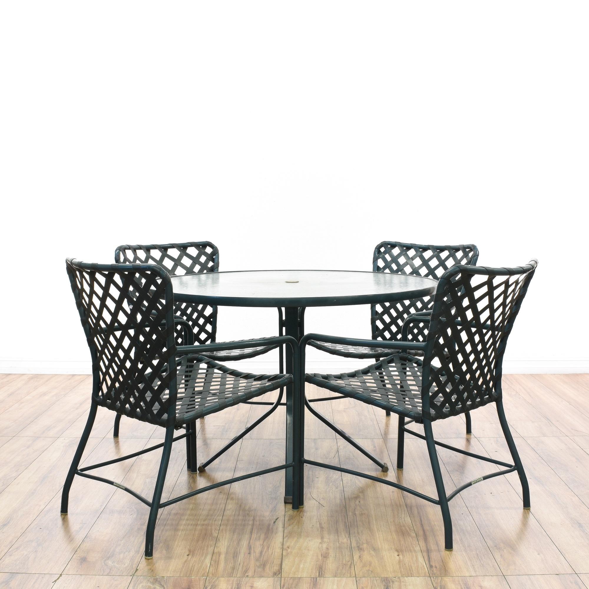 Brown jordan tamiami outdoor patio dining set loveseat for Brown jordan lawn furniture