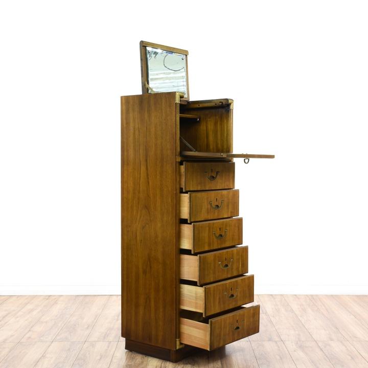 Quot Drexel Quot Campaign Style Tall Lingerie Cabinet Loveseat