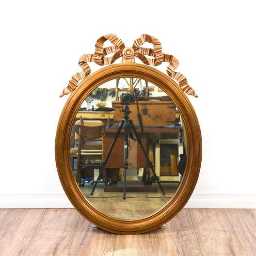 Beveled Gilded Ribbon Wall Mirror