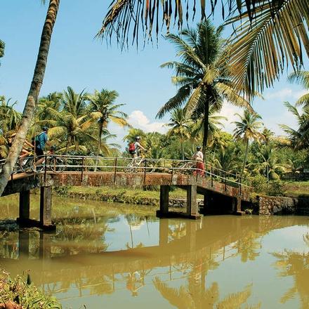 Bridge over backwaters