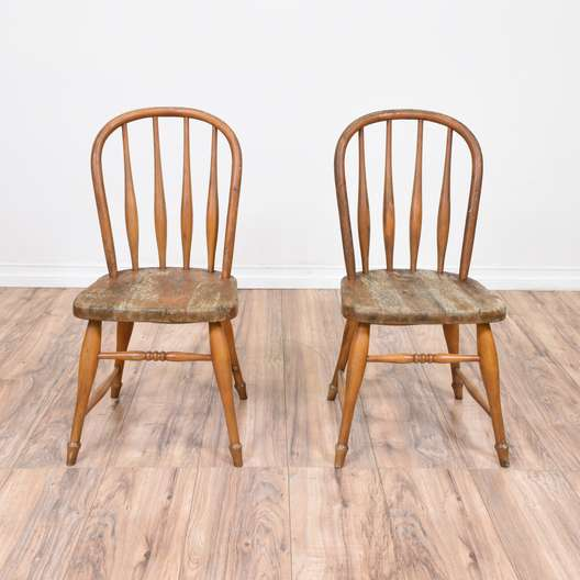 Pair of Maple Windsor Kids Chairs