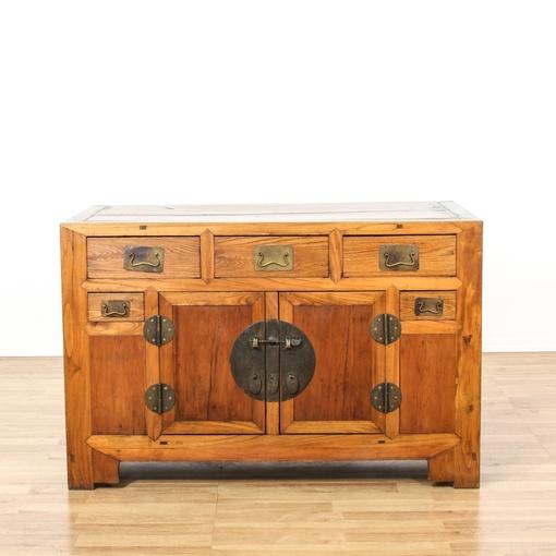 rustic chinese sideboard buffet cabinet loveseat vintage furniture san diego los angeles. Black Bedroom Furniture Sets. Home Design Ideas