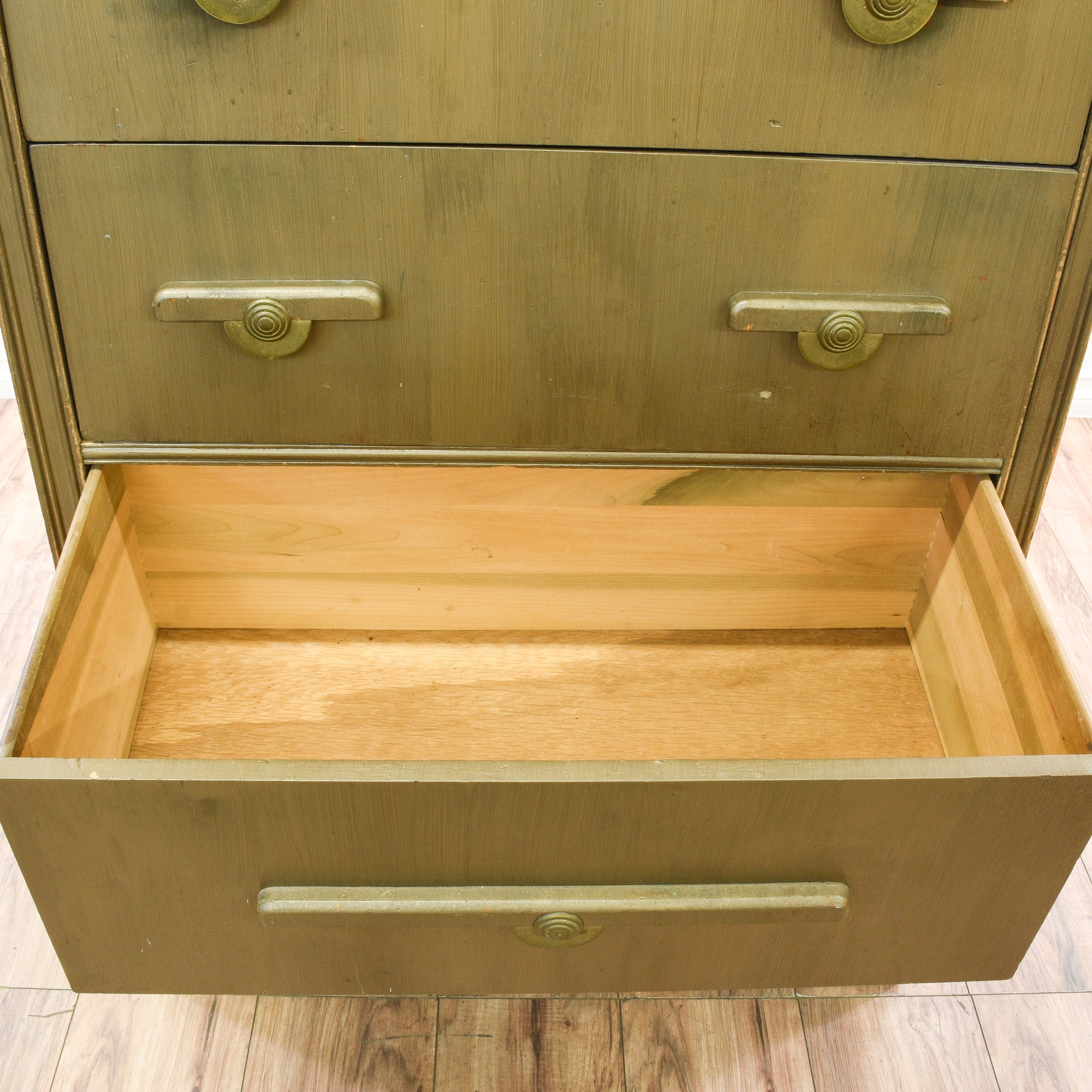 Forsyth Art Deco Kitchen Interior Design San Diego: Art Deco Green Stained Chest Of Drawers Dresser