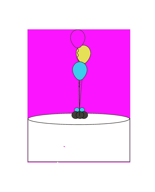 3 Latex Balloon Centerpeice