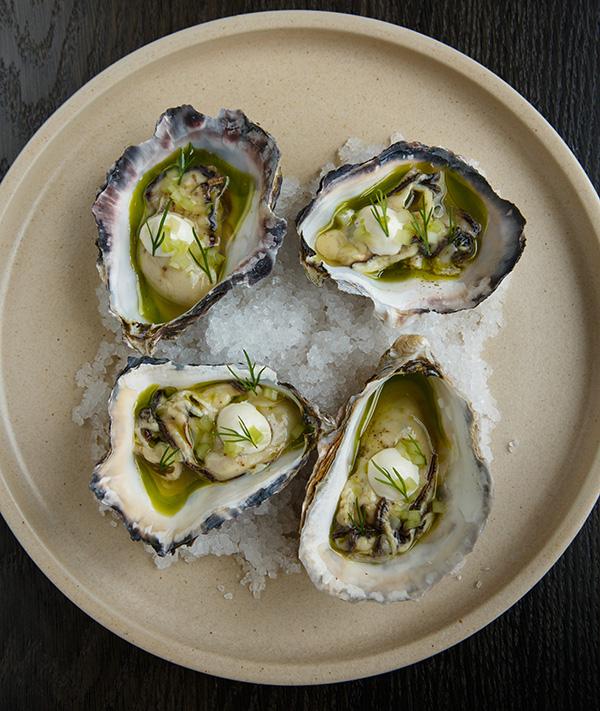 Pickled oyster, horseradish, celery, dill