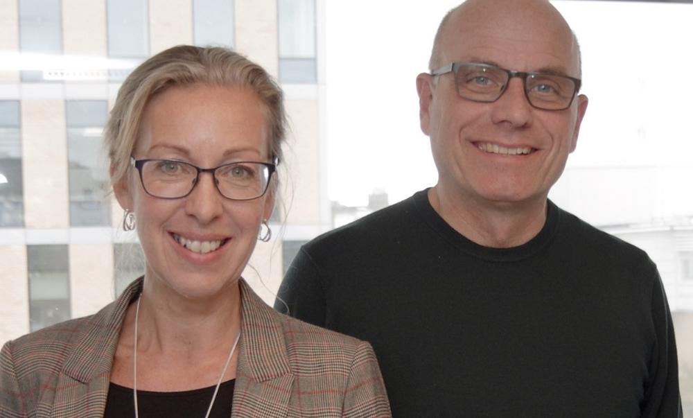 CEO Helene Hartman and Professor Artur Schmidtchen