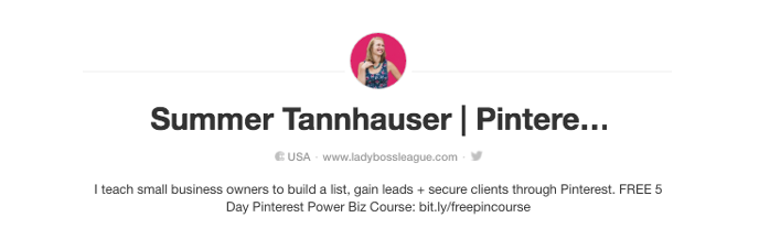 Summer Tannhauser of Lady Boss League is a bona fide Pinterest queen. After using Pinterest to grow a client list for her first business, she quickly realized the power the platform held and has even helped entrepreneurial superstars like Mariah Coz build their accounts from scratch.