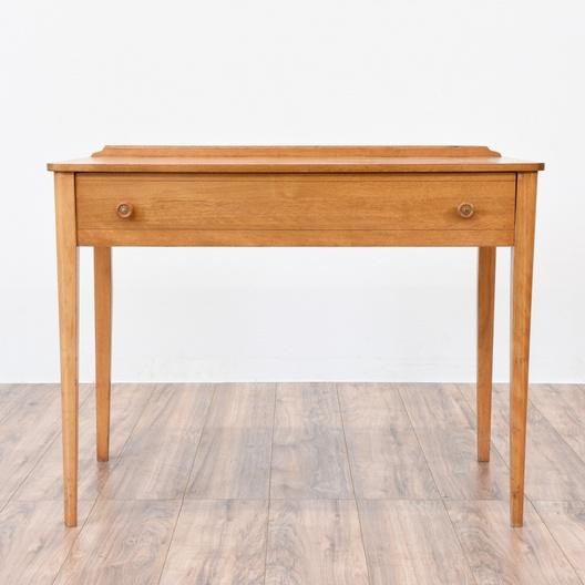 Simple Mid Century Modern Blonde Wood Desk