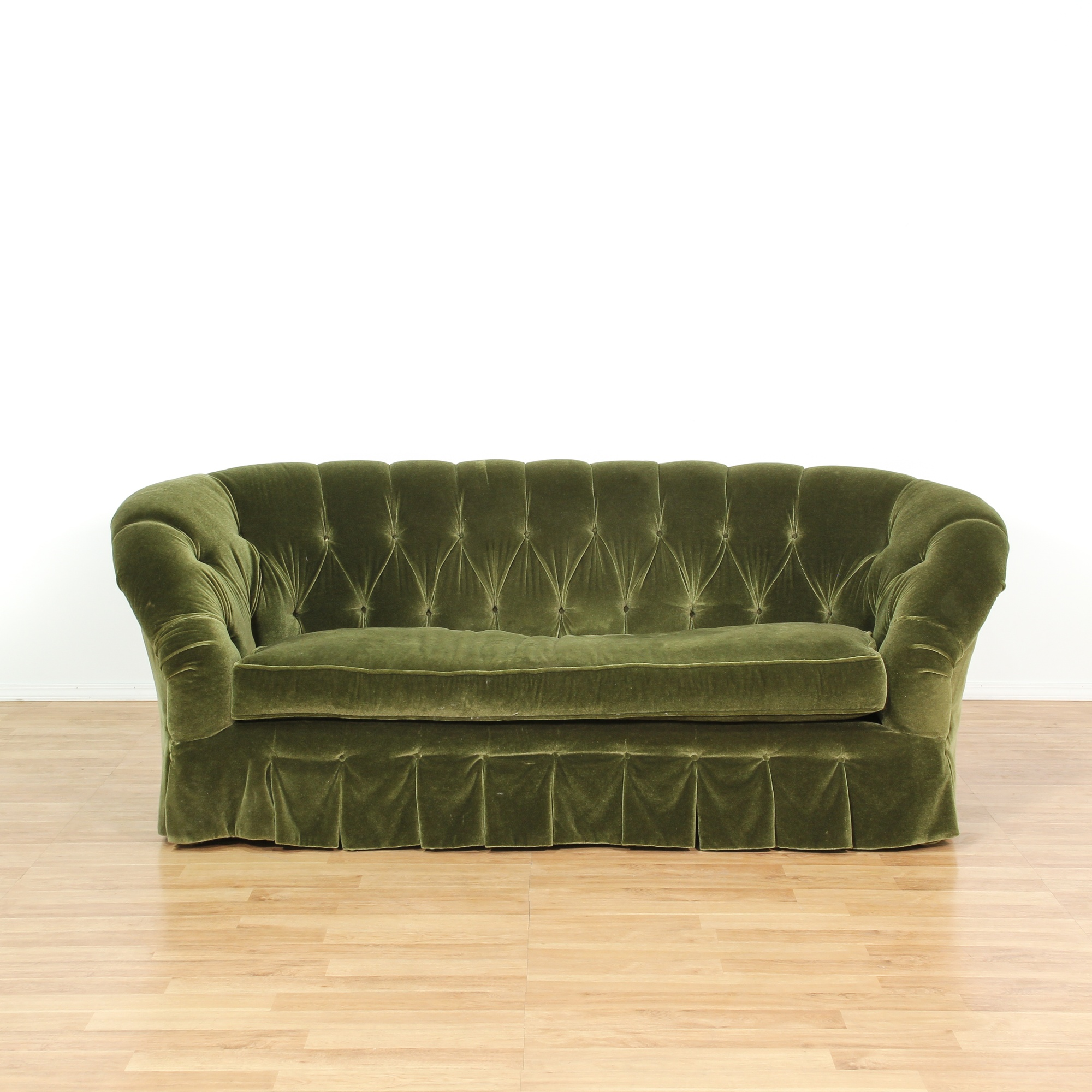 free shipping mystere today velvet modern overstock loveseat home green garden fabric skyline product furniture