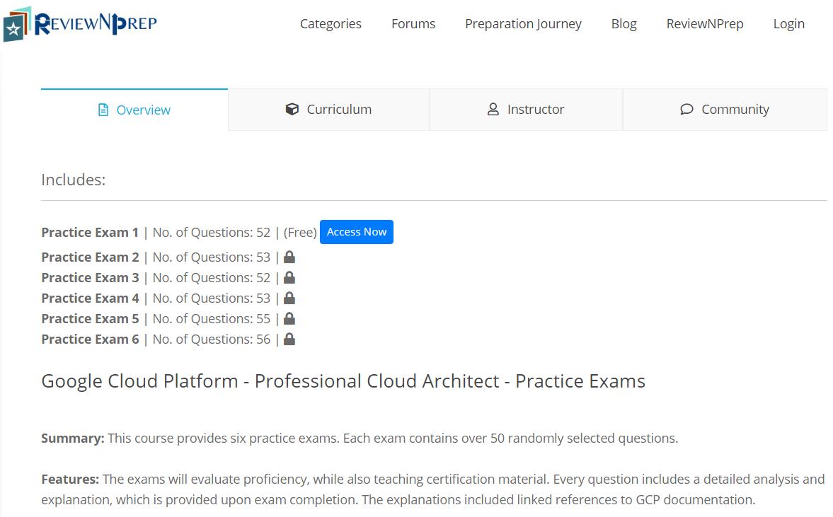 google cloud architect practice exam