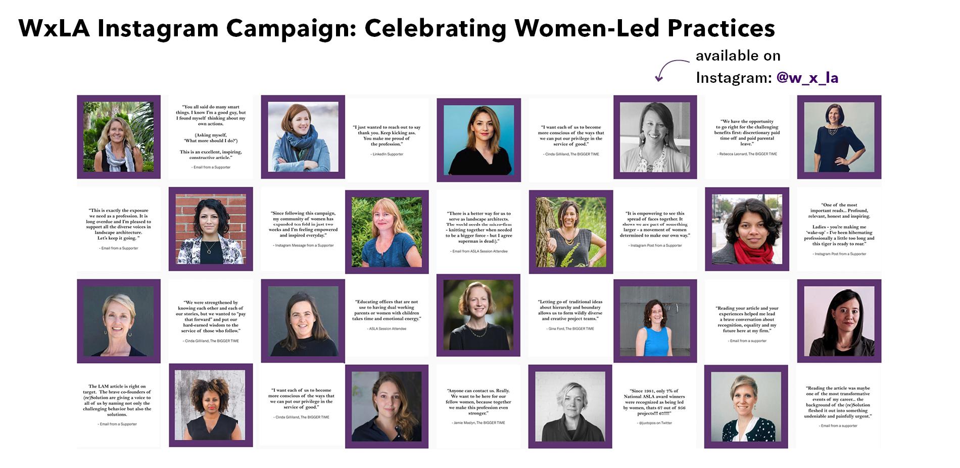 WxLA Instagram Campaign: Celebrating Women-led Practices