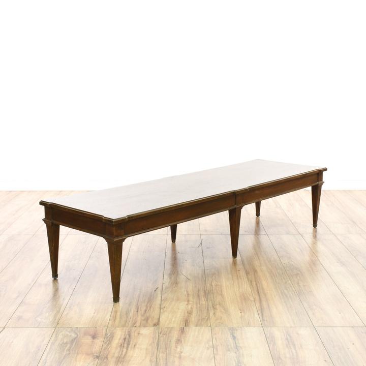 Lane Long Coffee Table: Long Mid Century Modern Coffee Table
