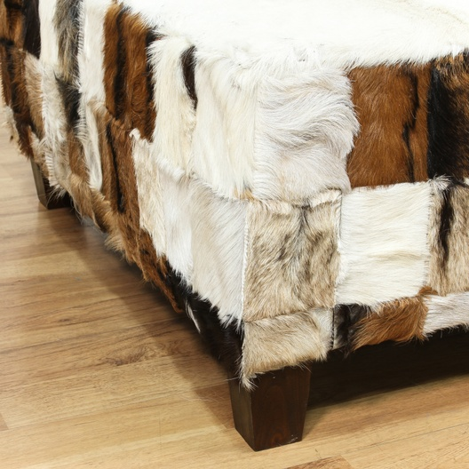 Large Square Cowhide Coffee Table Ottoman 2 Loveseat