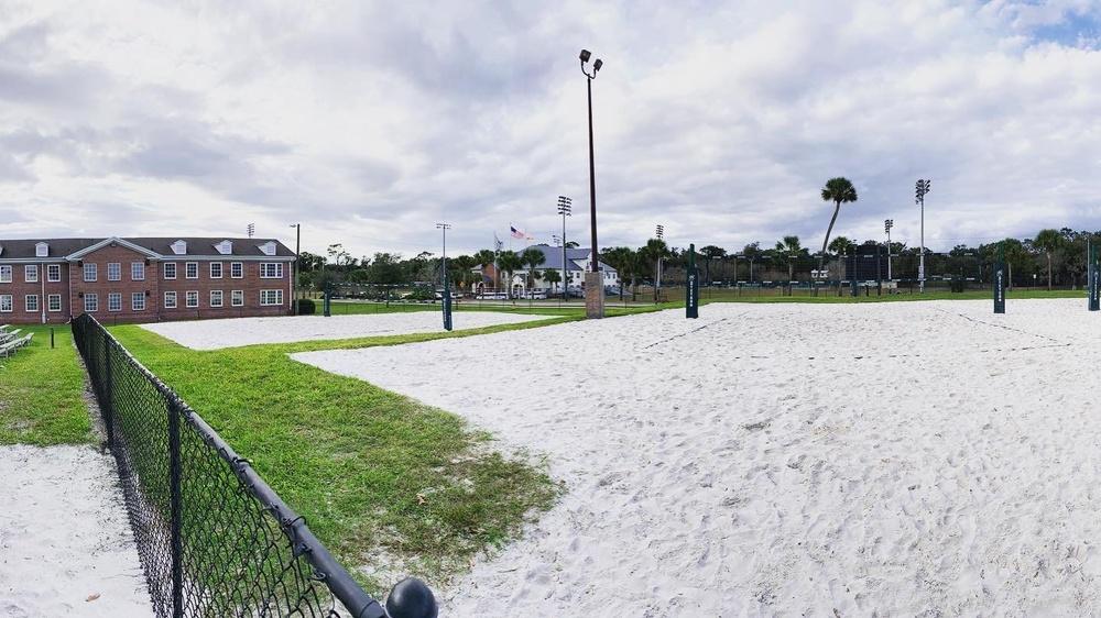 Beachvolleyplanerna på Stetson University.