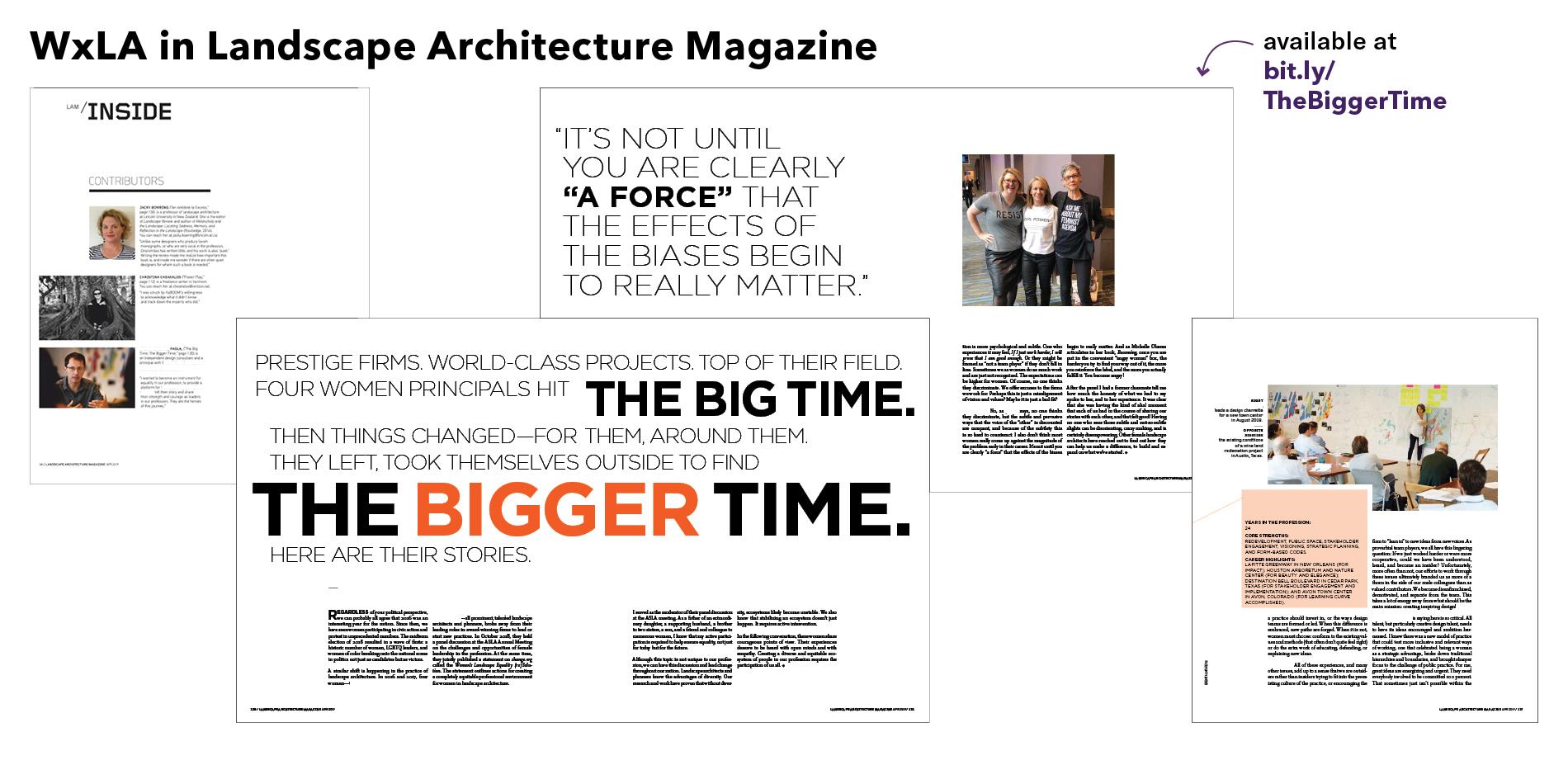 WxLA in Landscape Architecture Magazine