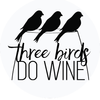 Three Birds Do Wine  logo