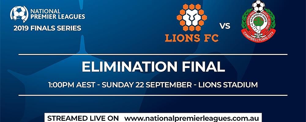 NPL Finals Series - Lions FC vs Campbelltown City Event Banner