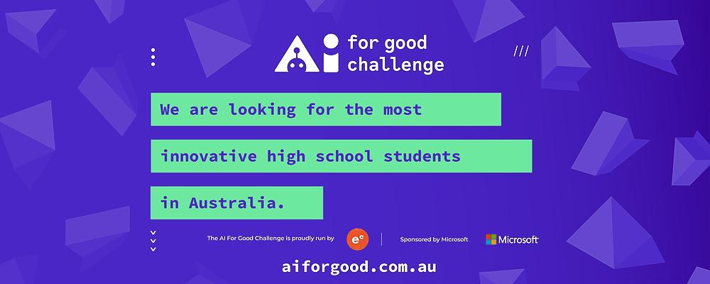 AI for Good Challenge Hackathon - Melbourne Event Banner