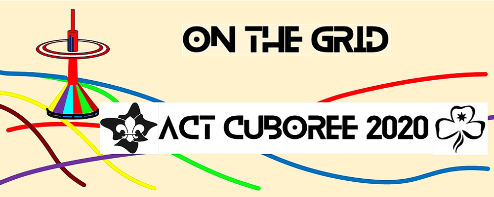 "Cuboree 2020 ""On the Grid"" Event Banner"