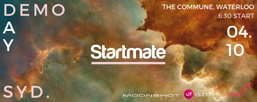 Startmate Demo Day- Sydney Event Banner