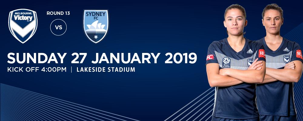 Westfield W-League: Melbourne Victory vs Sydney FC Event Banner
