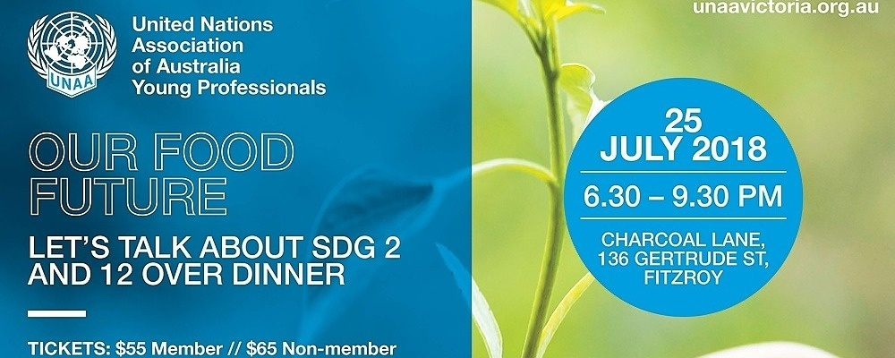 Our food future – let's talk about SDGs 2 and 12 over dinner Event Banner