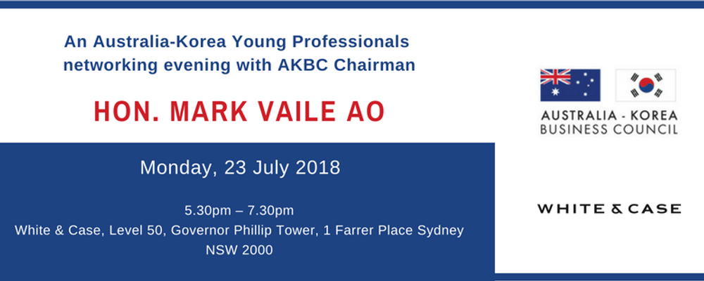 Australia-Korea Young Professionals Networking Evening Event Banner