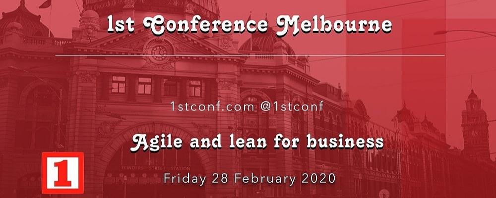 1st Conference Melbourne 2020 Event Banner