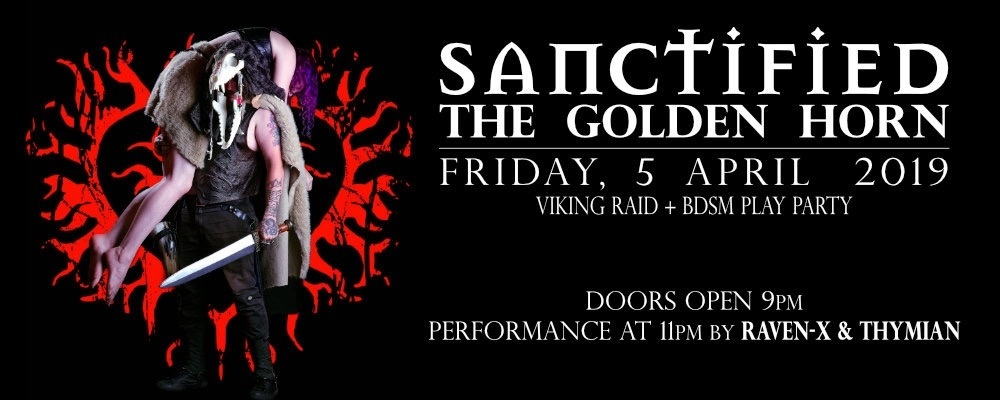 Sanctified Golden Horn Friday the 5th of April for all gender and sexual orientation   Event Banner