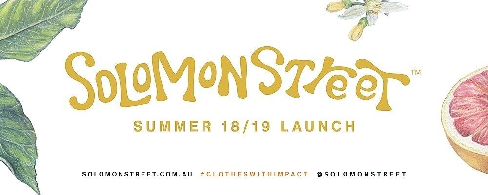 Solomon Street Summer Range Launch Event Banner