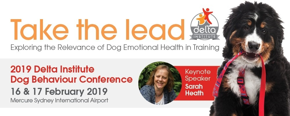 2019 Delta Institute Dog Behaviour Conference Event Banner