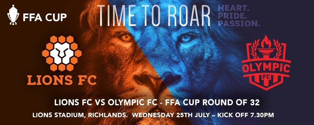 FFA Cup Round of 32 - Lions FC vs Olympic FC Event Banner