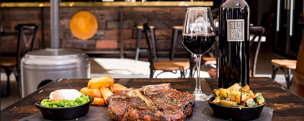 All You Can Steak - March 8th - Elements Bar + Grill + SocialTable Event Banner