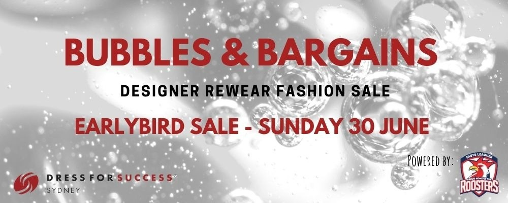 Bubbles & Bargains - Early Bird Sale Event Banner