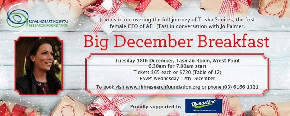 2018 RHH Research Foundation Big December Breakfast Event Banner