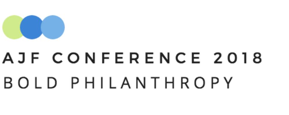 AJF Conference 2018: Bold Philanthropy Event Banner