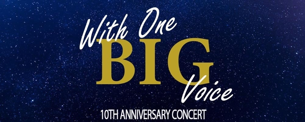 Creativity Australia presents With One BIG Voice - 10th Anniversary Concert 2018 Event Banner