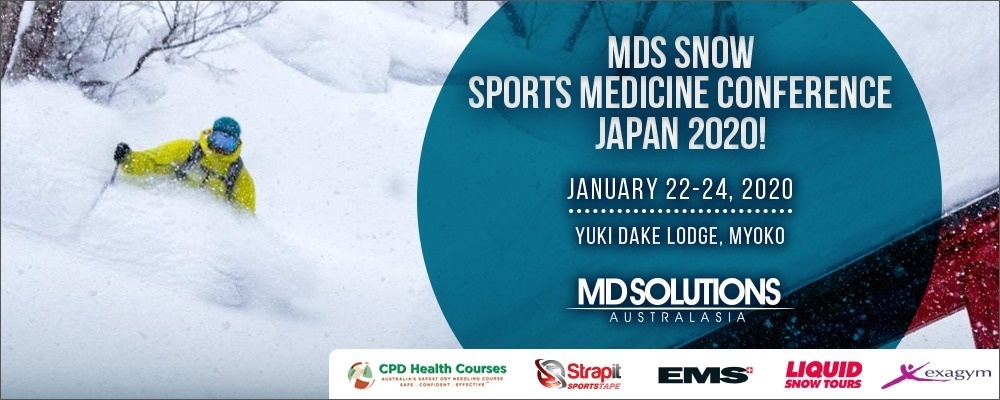 MD Solutions Snow Sports Medicine Conference - Myoko Japan - 2020 Event Banner