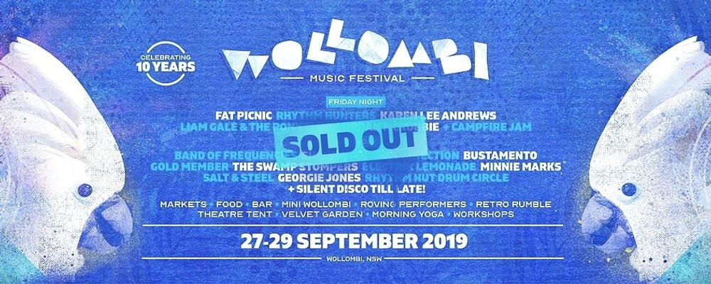 Wollombi Music Festival 2019 - Celebrating 10 Years! Event Banner