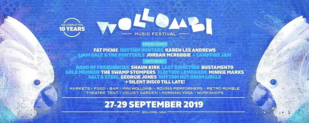 Wollombi Music Festival 2019 - Celebrating 10 Years! Event Banner