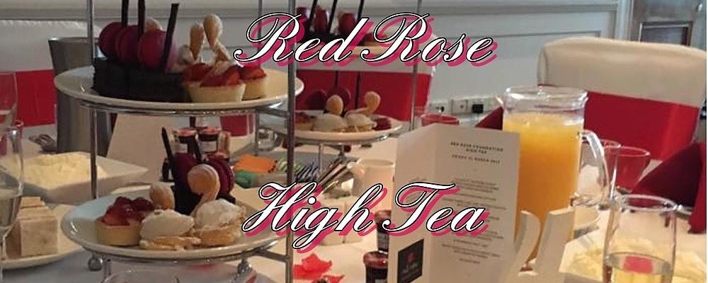 Red Rose High Tea Event Banner