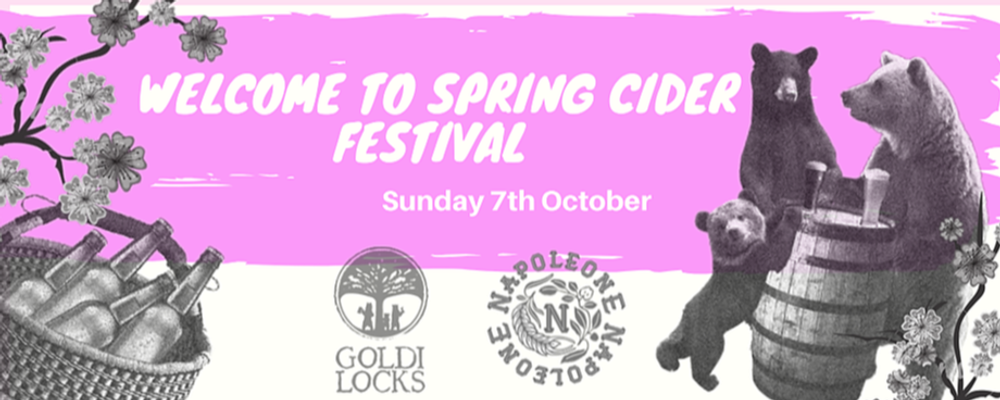 Welcome To Spring Cider Festival Event Banner