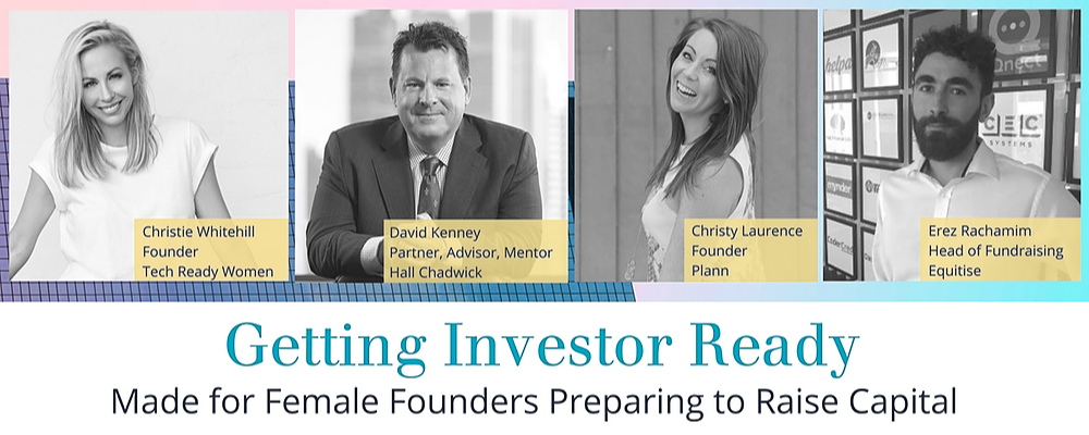 Getting Investor Ready | Made for Female Founders Preparing to Raise Capital Event Banner