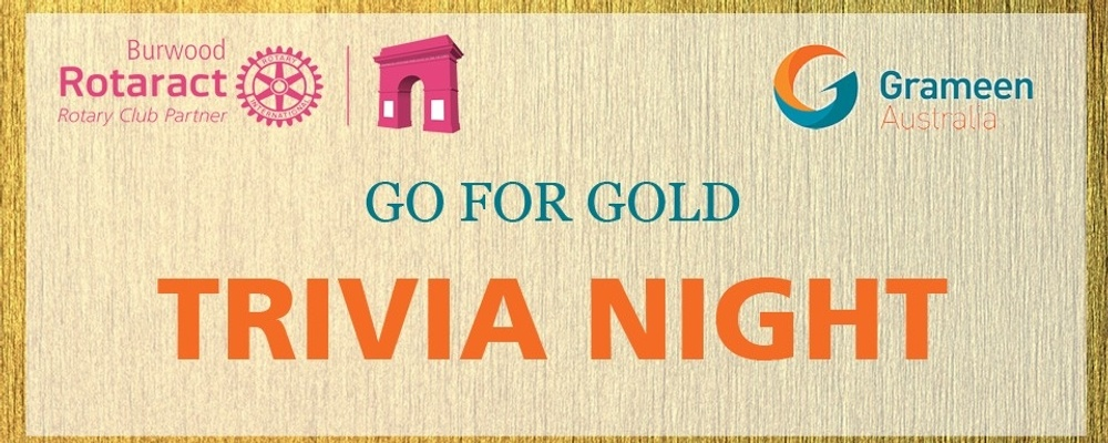 Go For Gold Trivia Night Event Banner