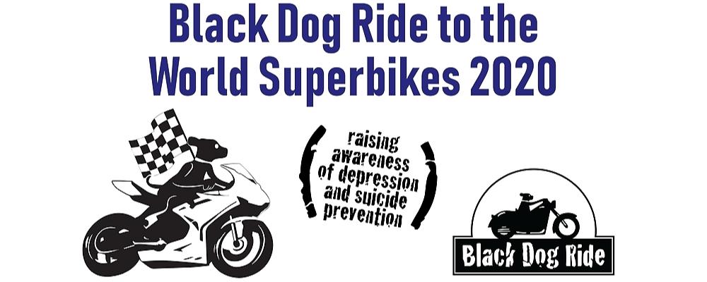 Black Dog Ride to the 2020 MOTUL FIM Superbike World Championship, Yamaha Finance Round - Victorian Leg Event Banner