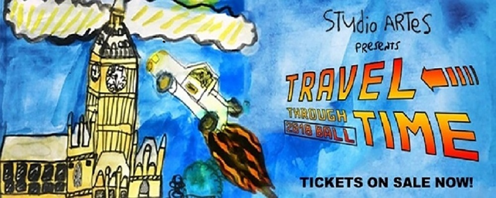 "Studio ARTES Annual Ball ""Travel Through Time""  Event Banner"