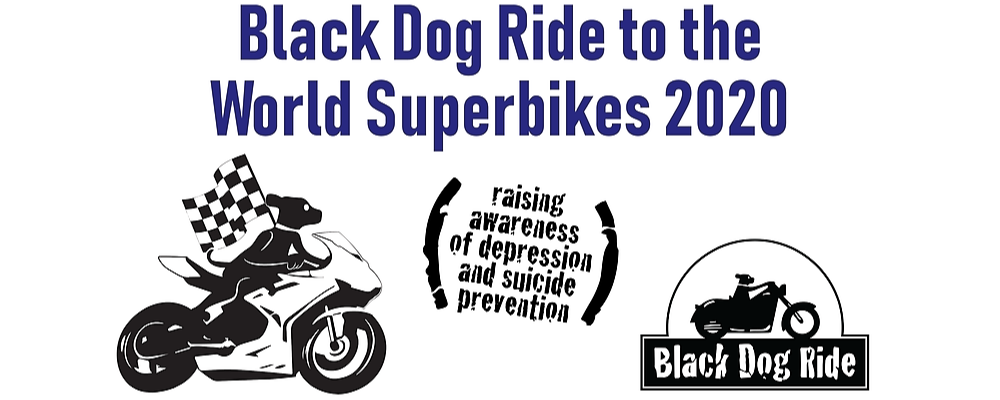 Black Dog Ride to the 2020 MOTUL FIM Superbike World Championship, Yamaha Finance Round - New South Wales Leg Event Banner