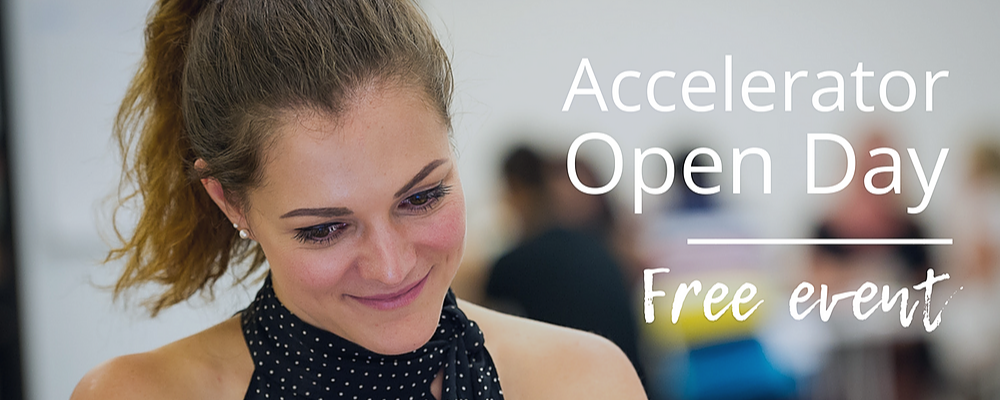 Accelerator Open Day Event Banner